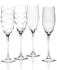 """Clear Cheers"" Flutes, Set Of 4"