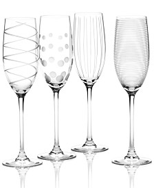 "Mikasa ""Clear Cheers"" Flutes, Set Of 4"