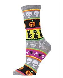Women's Festive Halloween Halloween Crew Socks