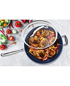 """14"""" Mineral and Diamond Infused Skillet with Lid"""