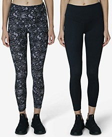 Juniors' 2-Pk. High-Rise V-Waist Leggings