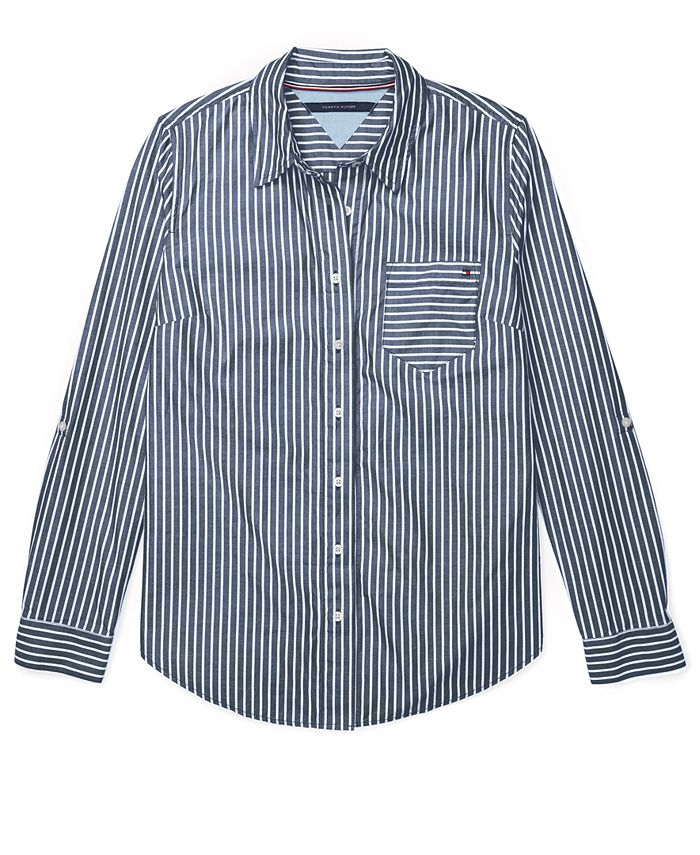 Tommy Hilfiger - Striped Adaptive Button-Front Shirt