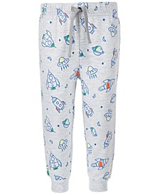 Baby Boys Rocket-Print Jogger Pants, Created for Macy's