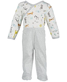 Baby Boys 2-Pc. Safari-Print Bodysuit & Pants Set, Created for Macy's