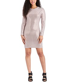 Juniors' Metallic Bodycon Dress