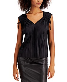 Petite Pleated Ruched Top, Created for Macy's