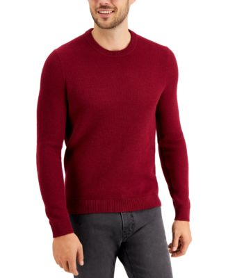Men's Regular-Fit Textured Stitch Sweater, Created for Macy's