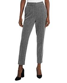 Women's Textured Herringbone Pintuck Pants