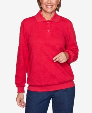 Plus Size Classics Long Sleeve Jacquard T-shirt
