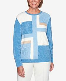 Women's Plus Size Classics Patchwork Sweater