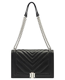 INC Ajae Flap Chevron Quilted Crossbody, Created for Macy's
