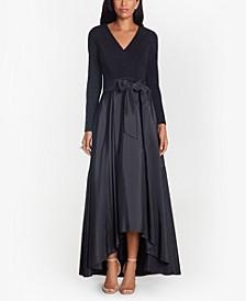 Taffeta-Skirt Gown