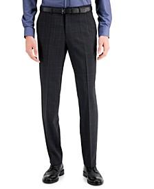 Men's Classic-Fit Charcoal Plaid Suit Pants