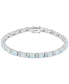 White Topaz (1-3/4 ct. t.w.) & Amethyst (10 ct. t.w.) Link Bracelet in Sterling Silver (Also in Blue Topaz, Citrine, Lab-Created Opal, Lab-Created Blue Sapphire, Lab-Created Ruby, & Lab-Created Emerald)