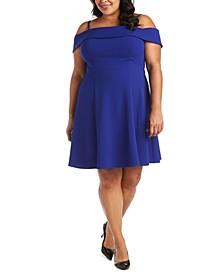 Trendy Plus Size Off-The-Shoulder Fit & Flare Dress