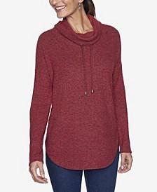 Women's Plus Size Cowl Neck Knit Pullover