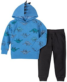 Toddler Boys Fleece Pullover Hoody with Fleece Pant Set, 2 Piece