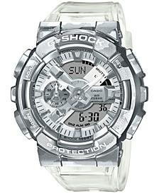 Men's Analog-Digital Clear Resin Strap Watch 51.9mm