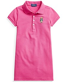 Toddler Girl Blazer Bear Mesh Polo Dress