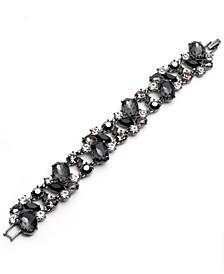 Hematite-Tone Jet Stone Flex Bracelet