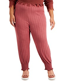 Trendy Plus Size Smocked-Cuff Joggers
