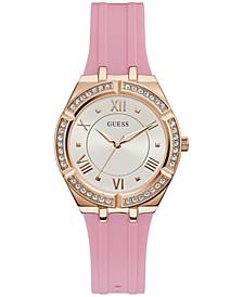 Women's Pink Silicone Strap Watch 36mm