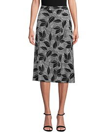 Petite Tropical-Print Skirt