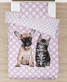 Best Buddies Furever Comforter with Removable Cover Twin Size 3 Piece Bedding Set