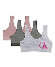 Big Girls Crop Bralette, 3 Pack