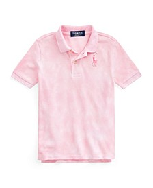 Toddler Boys Pink Pony Tie-Dye Polo Shirt