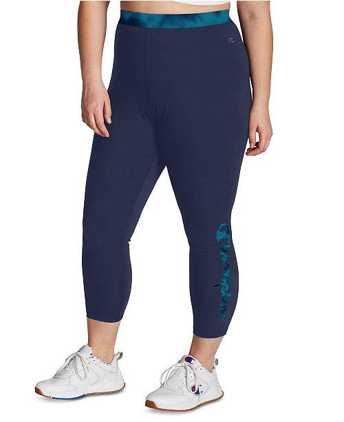 Champion Plus Size Authentic 7 8 Leggings Reviews Pants Leggings Plus Sizes Macy S