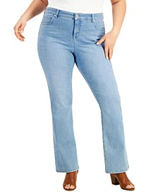 Plus Size High-Rise Bootcut Jeans, Created for Macy's