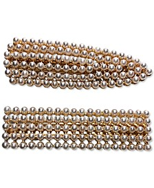 INC Gold-Tone 2-Pc. Set Imitation Pearl Hair Clips, Created for Macy's