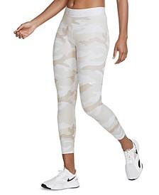 Women's Pro Dri-FIT Camo-Print Cropped Leggings