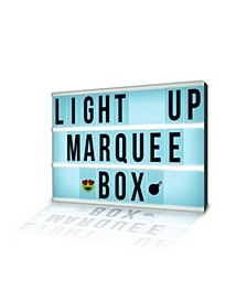 Aura LED Multi-Color Light Up Marquee Box with Remote, Alphabet, Symbols, Numbers, and Emojis