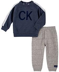 Baby Boys Heather Fleece Pant Set