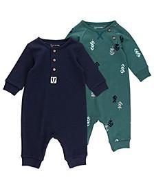 Baby Boy 2pk Unionsuits