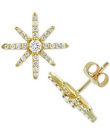 Diamond Starburst Stud Earrings (1-1/2 ct. t.w.) in 10k Gold