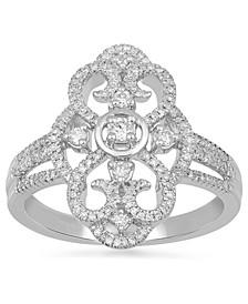 Diamond Fancy Openwork Statement Ring (3/8 ct. t.w.) in 10k White Gold