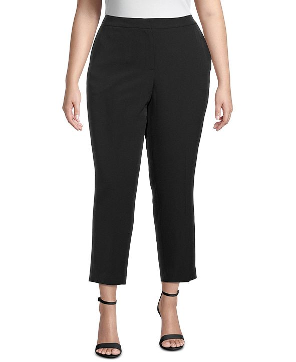 Kasper Plus Ankle Straight-Leg Pants