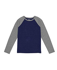 Big Boys Long Sleeve Crew Neck Tee