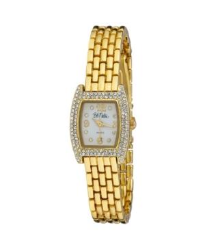 Women's Gold-Tone Alloy Bracelet Panther Link Square Stone Bezel Watch