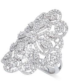 Diamond Filigree Statement Ring (1-3/5 ct. t.w.) in 14k White Gold