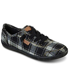 Women's Bobs B Cute - Plaid Princess Slip-On Casual Sneakers from Finish Line