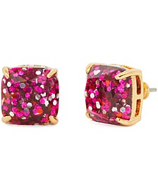 Glitter Crystal Mini Square Stud Earrings