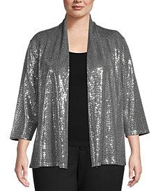 Kasper Plus Size Sequin Jacket