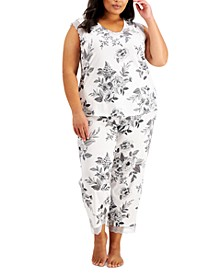 Plus Size Floral-Print Pajama Set, Created for Macy's