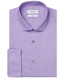 Men's Slim-Fit French Cuff Dress Shirt
