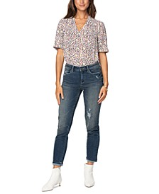 Easy Fit Roll-Cuff Ankle Jeans