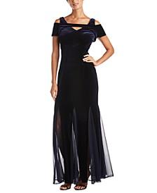 Velvet Keyhole Gown